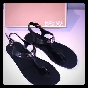 Michael Kors Jelly Plat Sandals Black size 8
